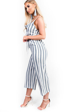 View the Cassidy Button Up Stripe Jumpsuit online at iKrush