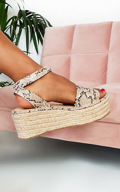 View the Cassie Flatform Sandals online at iKrush