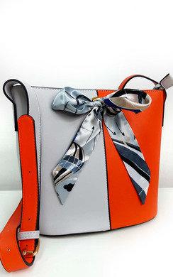 View the Cassie Two Tone Ribbon Handbag online at iKrush