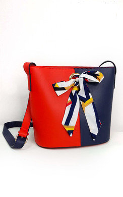 View the Cassie Two Tone Ribbon Handbag online at iKrush