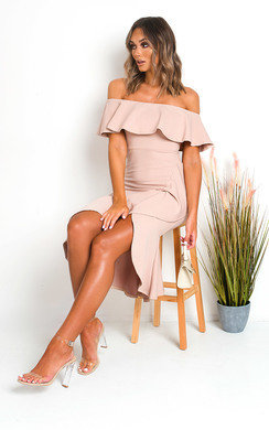 View the Cat Off Shoulder Bodycon Midi Dress online at iKrush