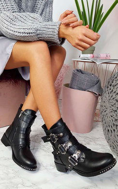 View the Cathie Buckle Biker Boots online at iKrush