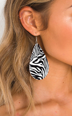 View the Cece Animal Print Drop Earrings  online at iKrush