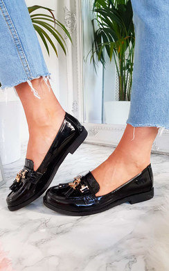 View the Celine Patent Tassel Brogue Flats online at iKrush