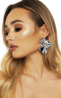 View the Charlotte Metallic Shine Statement Earrings  online at iKrush