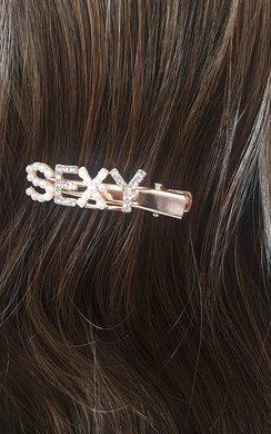 View the Chelsy Sexy Slogan Diamante and Pearl Hair Clip online at iKrush