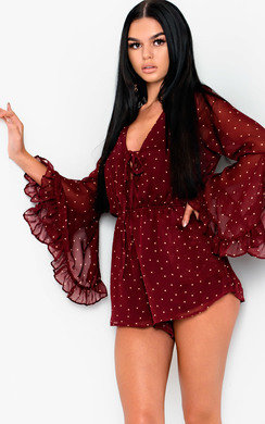 View the Cheri Polka Dot Playsuit online at iKrush