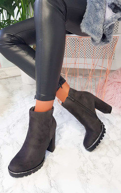 View the Chez Diamante Chunky Heeled Boots online at iKrush