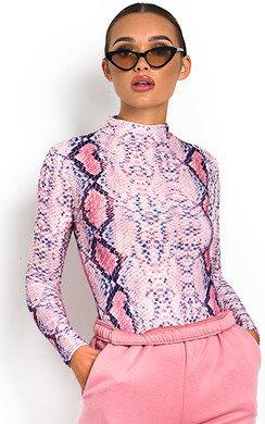 View the Chloe Animal Print Bodysuit online at iKrush