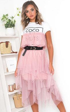View the Chloe Layered Net Midi Skirt online at iKrush