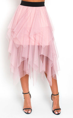 View the Chloe Layered Net Midi Skirt online at iKrush