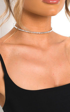 View the Ciara Thin Diamante Choker Necklace online at iKrush