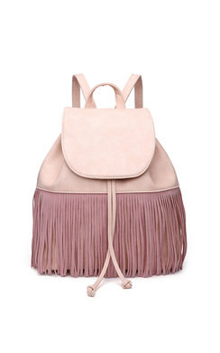 View the Cindee Faux Leather Fringe Backpack Bag online at iKrush