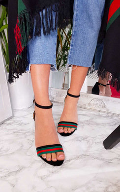 View the Cindi Barely There Striped Block Heels online at iKrush