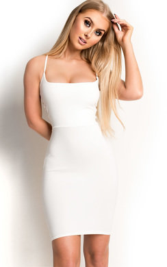 View the Cindie Backless Strappy Bodycon Dress online at iKrush