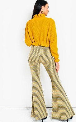 View the Cindy High Waist Printed Flare Trousers  online at iKrush