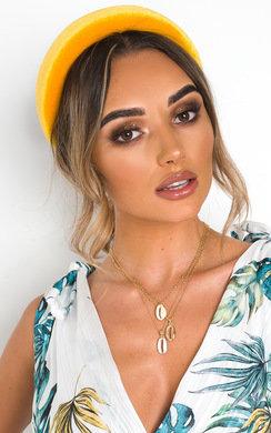 View the Cinzia Velvet Padded Hairband online at iKrush