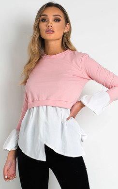 View the Claire Frill Shirt Hem Jumper online at iKrush