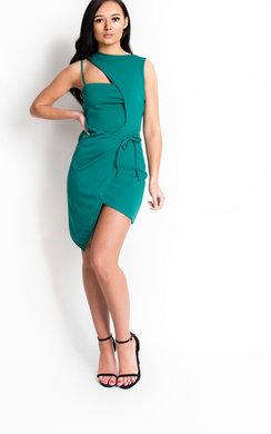 View the Clara Bodycon Wrap Dress online at iKrush
