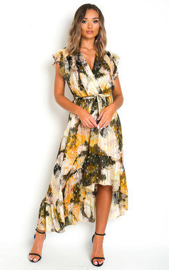 View the Clara Chiffon Wrap Maxi Dress online at iKrush