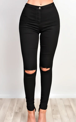 View the Clara Distressed Skinny Jeans  online at iKrush