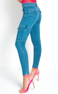 View the Clara Slim Fit Pocket Jeans online at iKrush