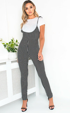 View the Clara Striped Jumpsuit online at iKrush