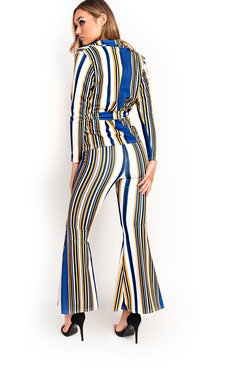 View the Clea Striped Blazer Flared Co-ord online at iKrush