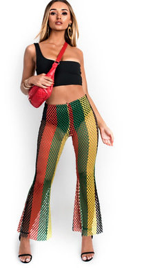 View the Cleo Mesh Flared Trousers  online at iKrush