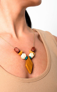 View the Cody Wooden Necklace online at iKrush