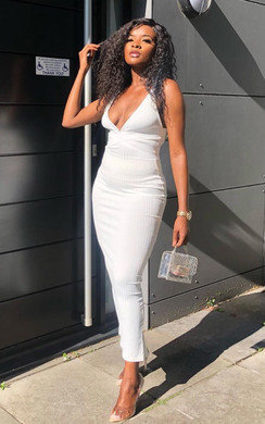 View the Cole Low Cut Fitted Maxi Dress online at iKrush