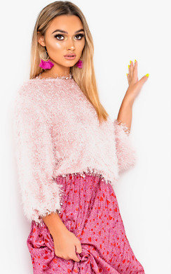 View the Connie Confetti Knit Cropped Jumper online at iKrush