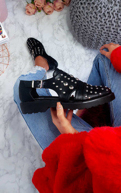 View the Cooper Studded Flat Shoe Boot online at iKrush