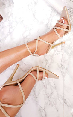 View the Cora Strappy Patent Pointed High Heels  online at iKrush