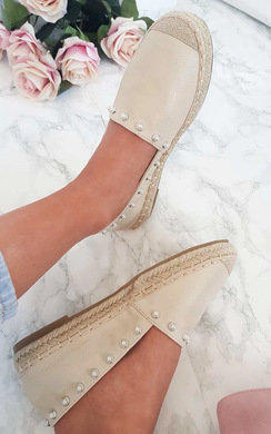 View the Cori Pearl Studded Espadrille Sandal  online at iKrush
