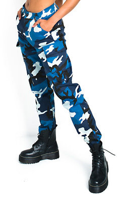 View the Corrie Cuffed Camo Cargo Trousers online at iKrush
