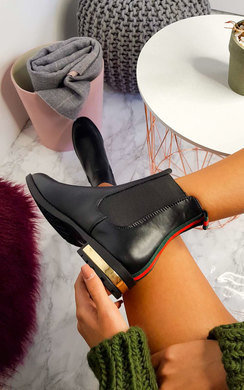 View the Daina Faux Leather Ankle Boots online at iKrush