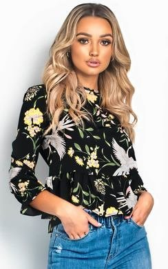 View the Daisey Floral Peplum Top online at iKrush