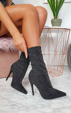 View the Daisey Glitter Heeled Boots online at iKrush