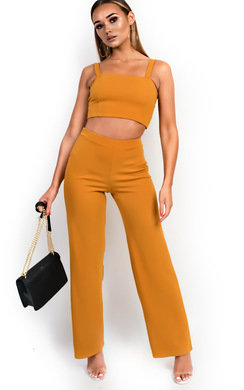 View the Daisy Stretch Wide Leg Co-ord online at iKrush