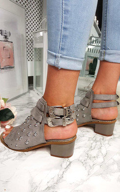 View the Daisy Studded Peep Toe Sandal online at iKrush