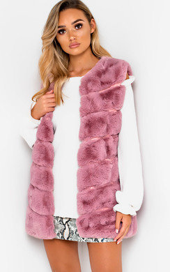 View the Dalliah Faux Fur Waistcoat online at iKrush