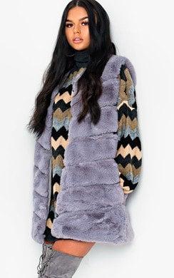 View the Dalliah Faux Fur Waistcoat online at iKrush