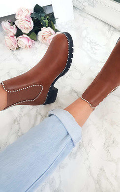 View the Dani Studded Chelsea Ankle Boots online at iKrush