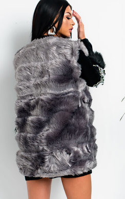 View the Dannie Faux Fur Gilet online at iKrush