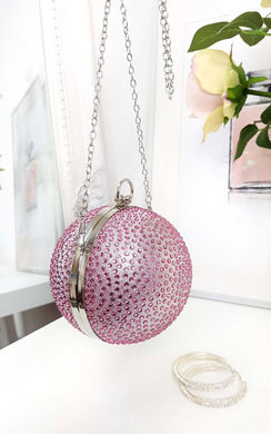 View the Daphne Diamante Sphere Clutch Bag online at iKrush