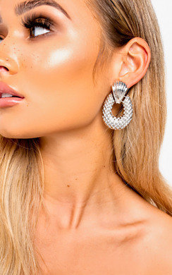 View the Darcey Pineapple Statement Drop Earrings  online at iKrush