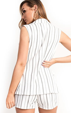 View the Daria Striped Blazer Short Co-ord online at iKrush