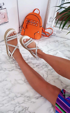 View the Delilah Strappy Flatform Sandals online at iKrush