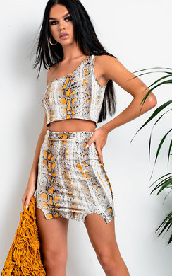 View the Demi Snake Print Co-ord online at iKrush